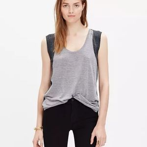Madewell Anthem Inset Top In Colorblock XS